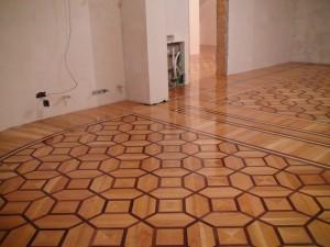 montaj mozaic lemn