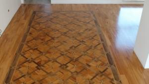 montaj parchet mozaic lemn